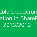 Enable breadcrumb navigation in SharePoint