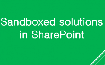 SharePoint 2010 Sandboxed solutions