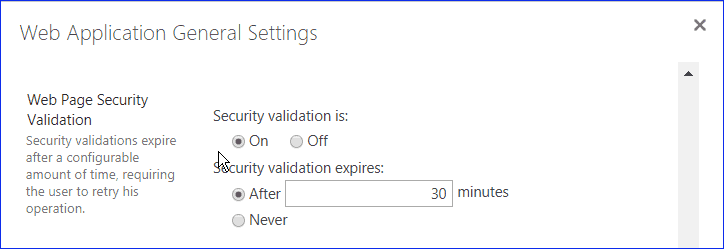 The security validation for this page has timed out