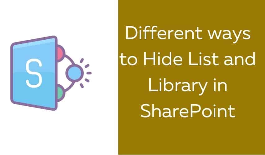 hide list from site contents sharepoint online