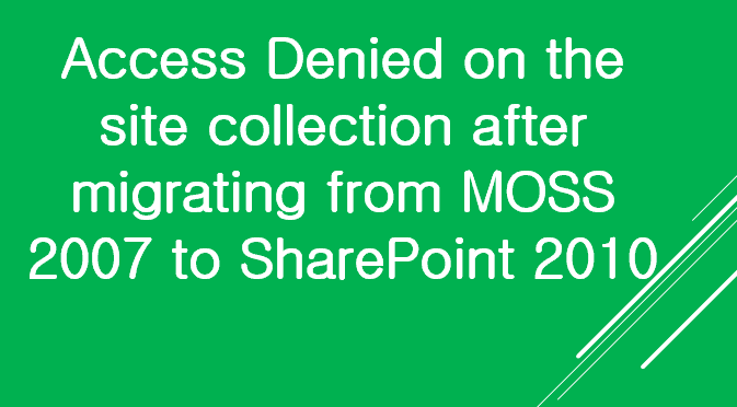 sharepoint access denied after migration