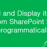 Add and Display items from SharePoint list programmatically