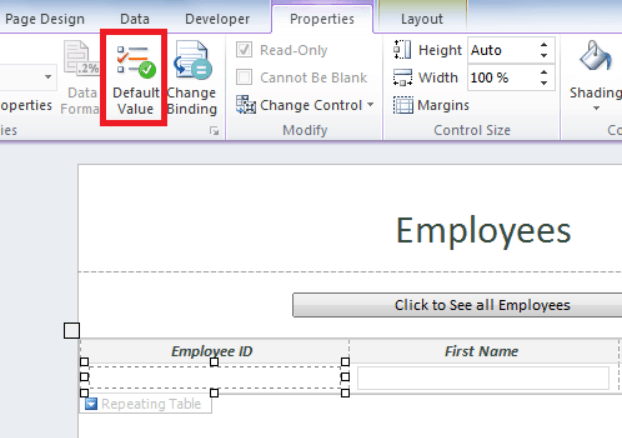 Add auto number to repeating table