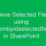 getitembyidselectedfields sharepoint