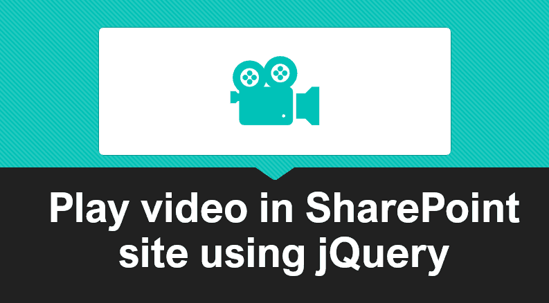 Play video in SharePoint site using jQuery