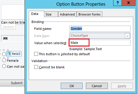 InfoPath more than two radio buttons in SharePoint online
