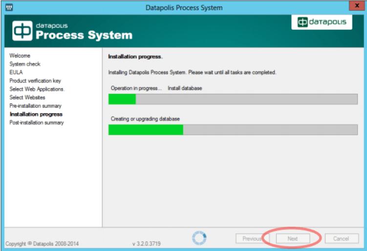 Datapolis Process System Installation