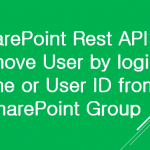 remove user from sharepoint group using rest api