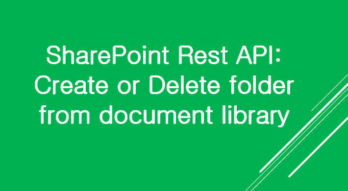sharepoint rest api create folder