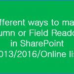 Make SharePoint list field readonly