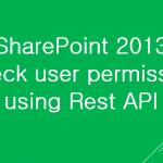 Check user permission using Rest API SharePoint