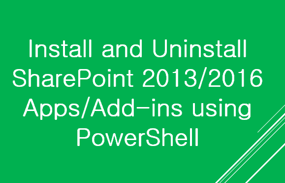 install sharepoint apps using powershell