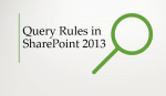 Query Rules in SharePoint 2013