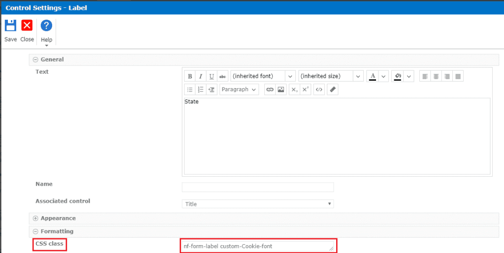 Add custom css in nintex forms