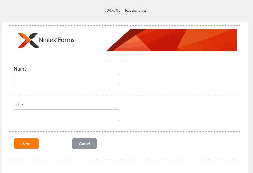 nintex responsive forms