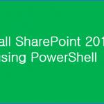 install sharepoint 2016 using powershell