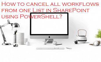 sharepoint cancel all workflows on a list