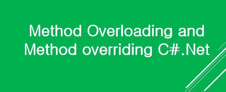 Method Overloading and Method overriding C#.Net
