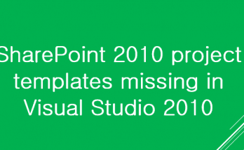 SharePoint 2010 project templates missing in visual studio 2010
