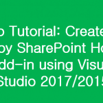 Create and Deploy SharePoint Hosted Add-in using Visual Studio Video Tutorial