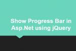 Show Progress Bar in Asp.Net using jQuery