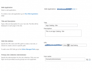 Create App Catalog Site in SharePoint 2013