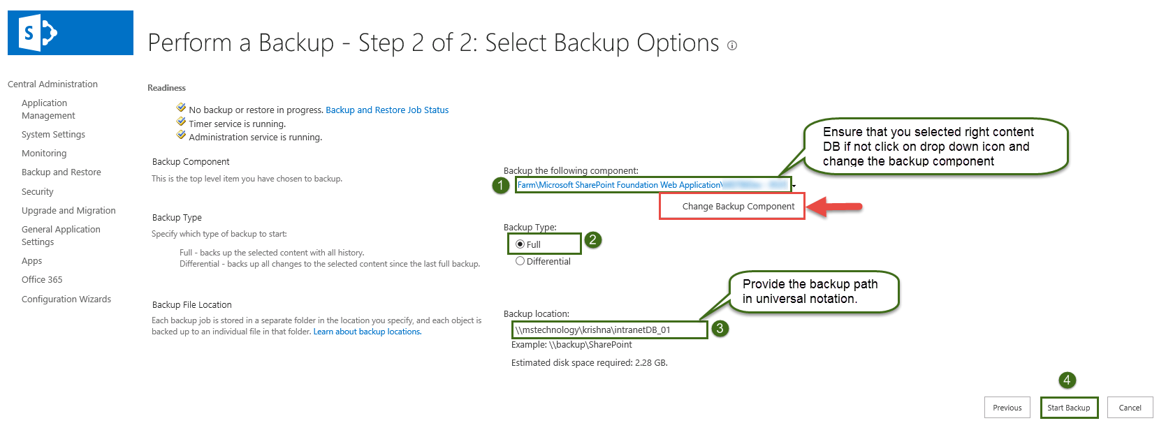 Backup and Restore Content DB in SharePoint 2010
