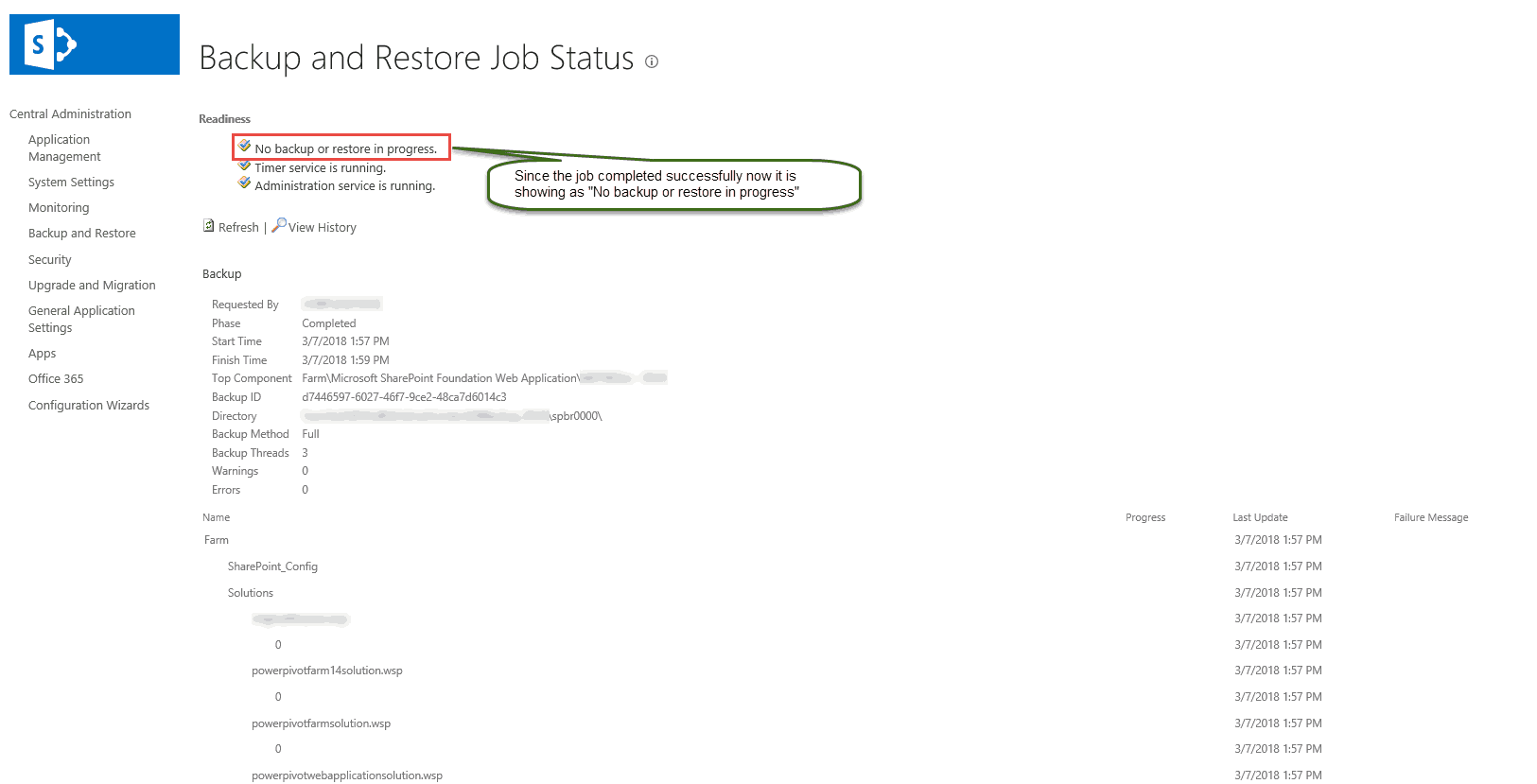 Backup and Restore Content DB in SharePoint 2016 online