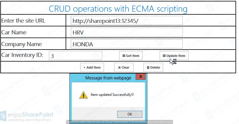 sharepoint 2013 crud operations using jsom