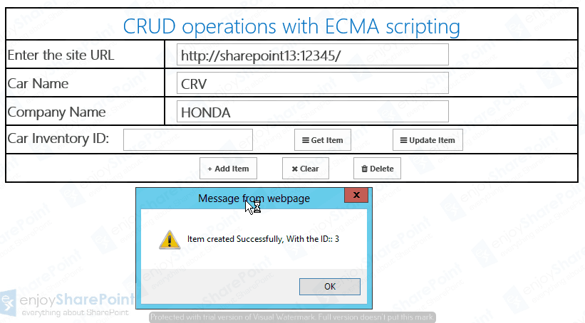 sharepoint crud operations using jsom