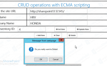 CRUD Operations with ECMA in SharePoint 2016