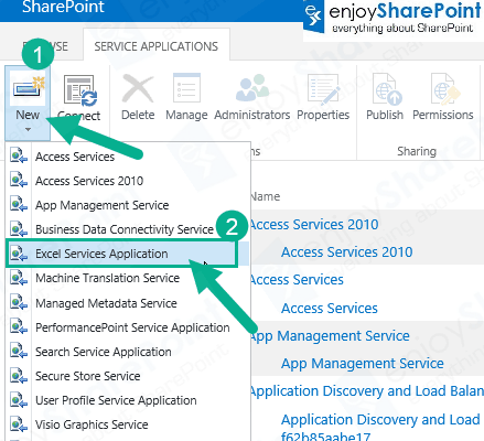 Configure Excel Services in SharePoint Server 2013