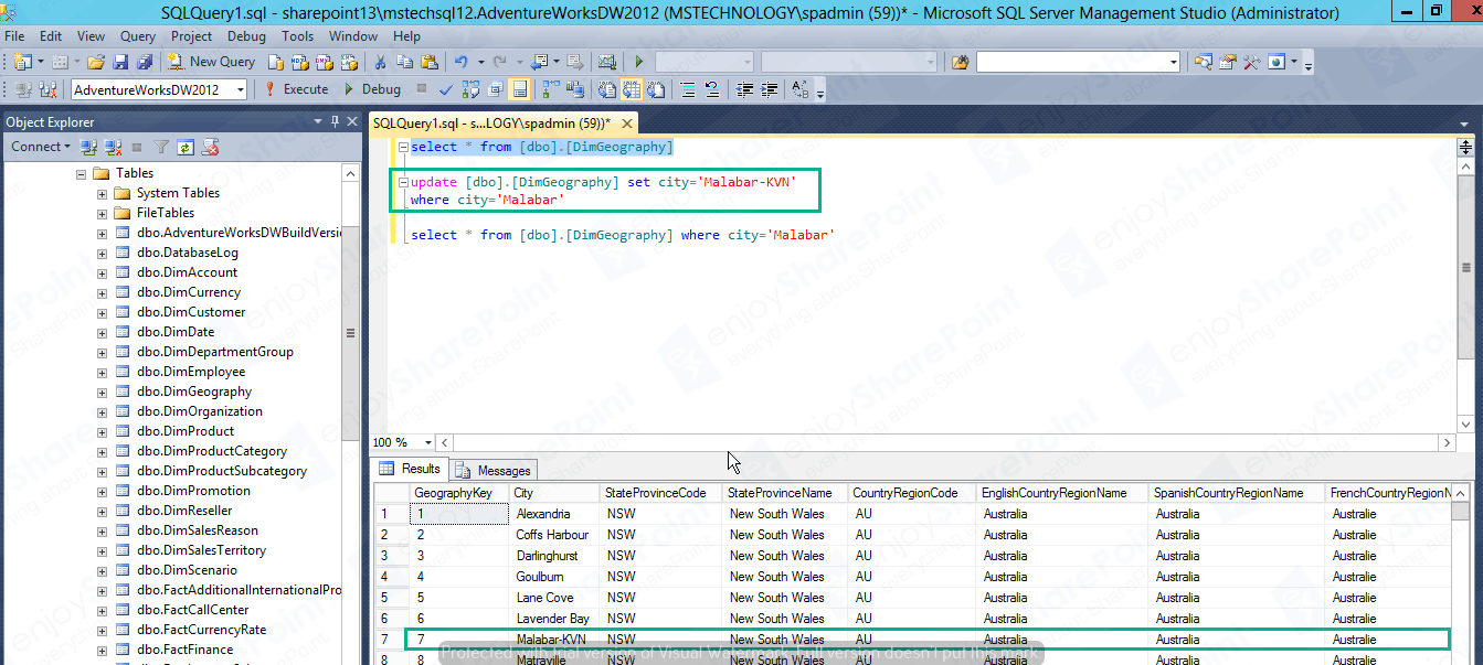Create Excel Service to import External DB Using Secure Store connection
