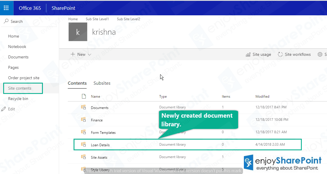 Create document library sharepoint online powershell