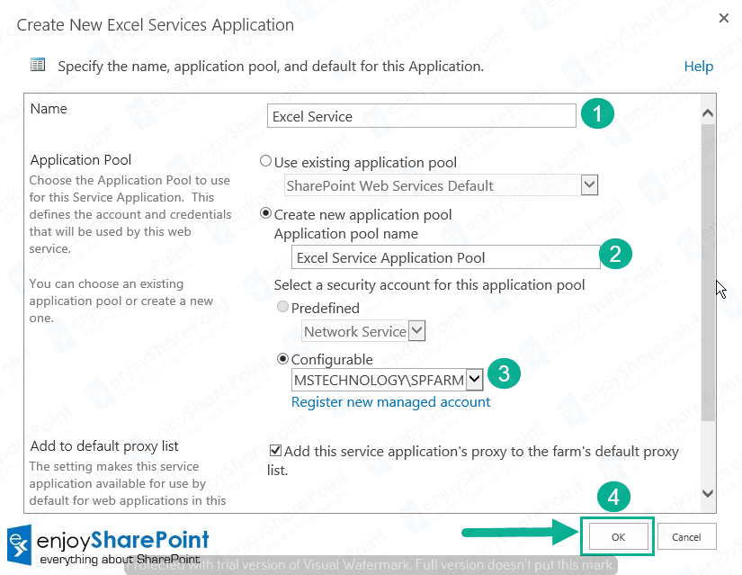 configure excel service application sharepoint 2013