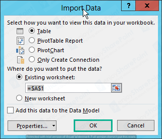 excel Service to import external data sharepoint 2016