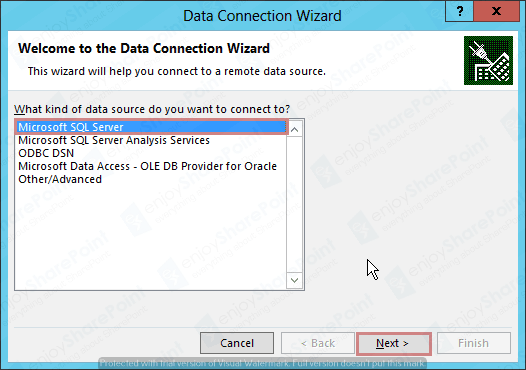 Excel Service to import External DB Using Secure Store connection tutorial