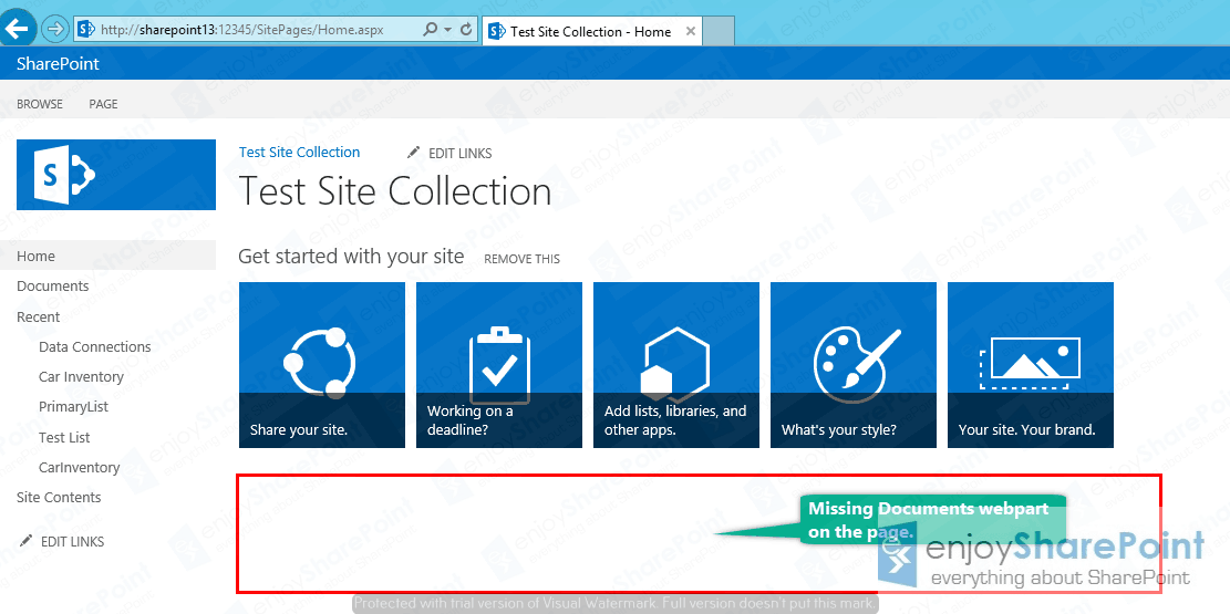 Add closed web parts on a page in SharePoint 2013