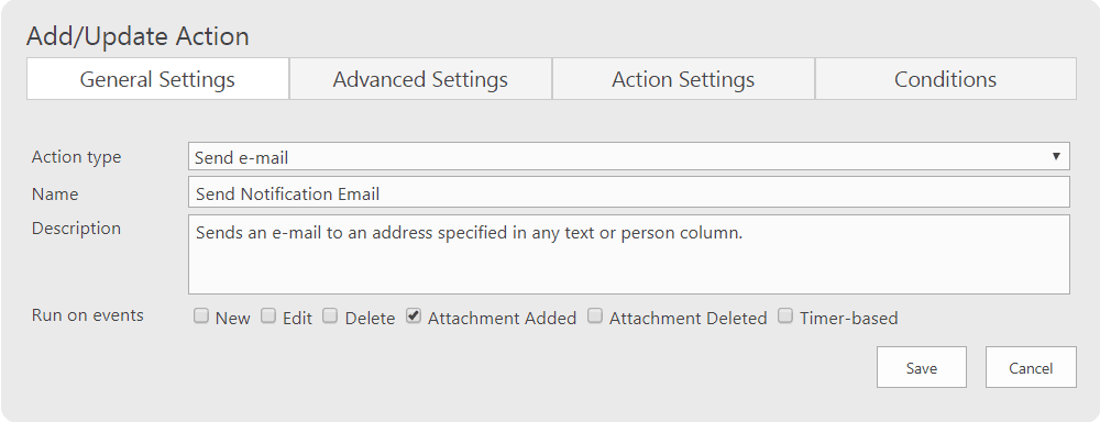 Send email notification using Infowise Ultimate form actions
