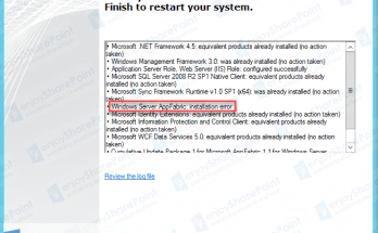 SharePoint 2013 Setup AppFabric installation Error