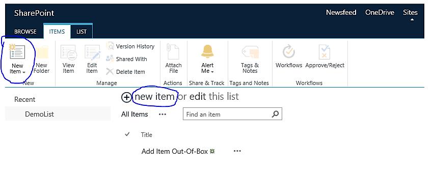 add item to sharepoint list