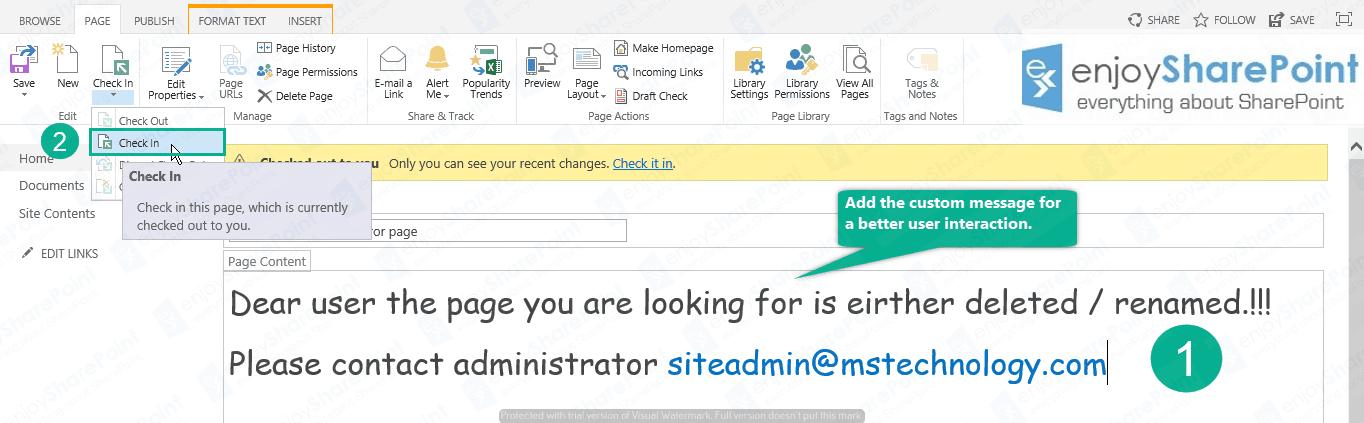 SharePoint 2016 Redirect user to custom PageNotFoundError page custom filenotfound error page