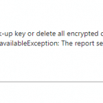 The report server is unable to access encrypted data