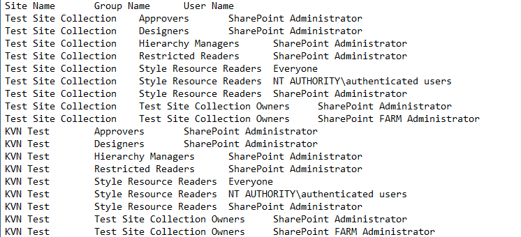 Get all users and groups in SharePoint 2013/2016 using PowerShell