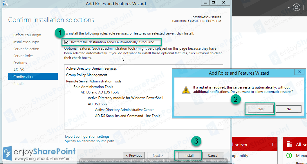active directory domain services configuration wizard 2012