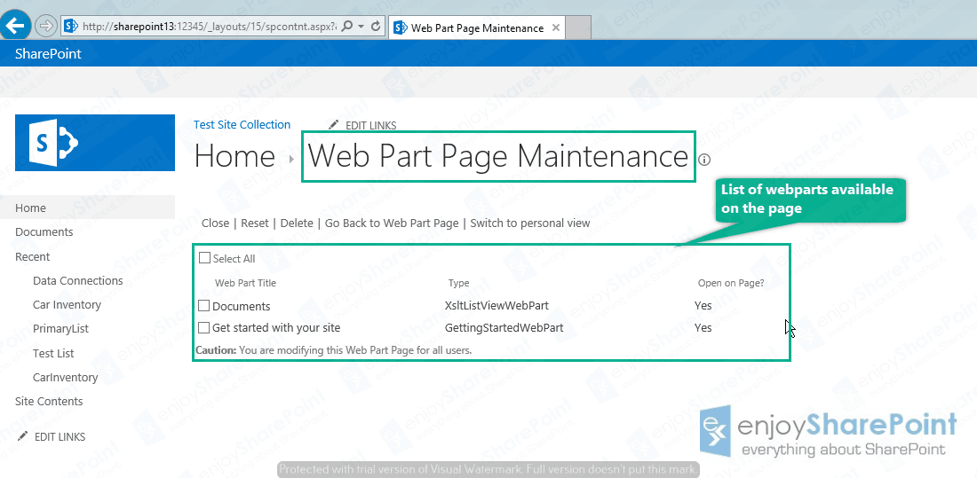 add closed web part sharepoint