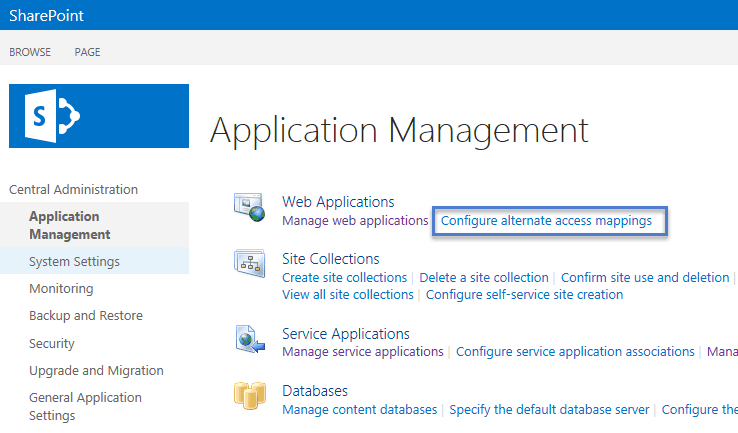 how to configure alternate access mapping in sharepoint 2010