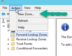 configure forward lookup zone