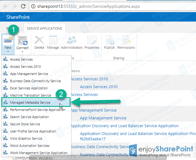 configure managed metadata service application sharepoint 2013
