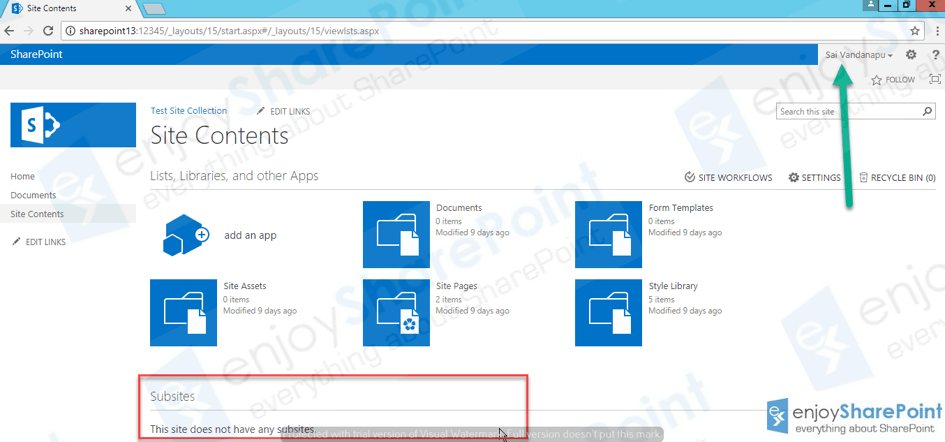 enable self service site creation sharepoint 2013